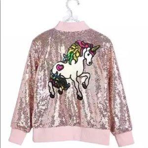 Other - NEW Unicorn sequin jacket